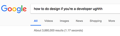 How to do design if you're a developer as a Google search