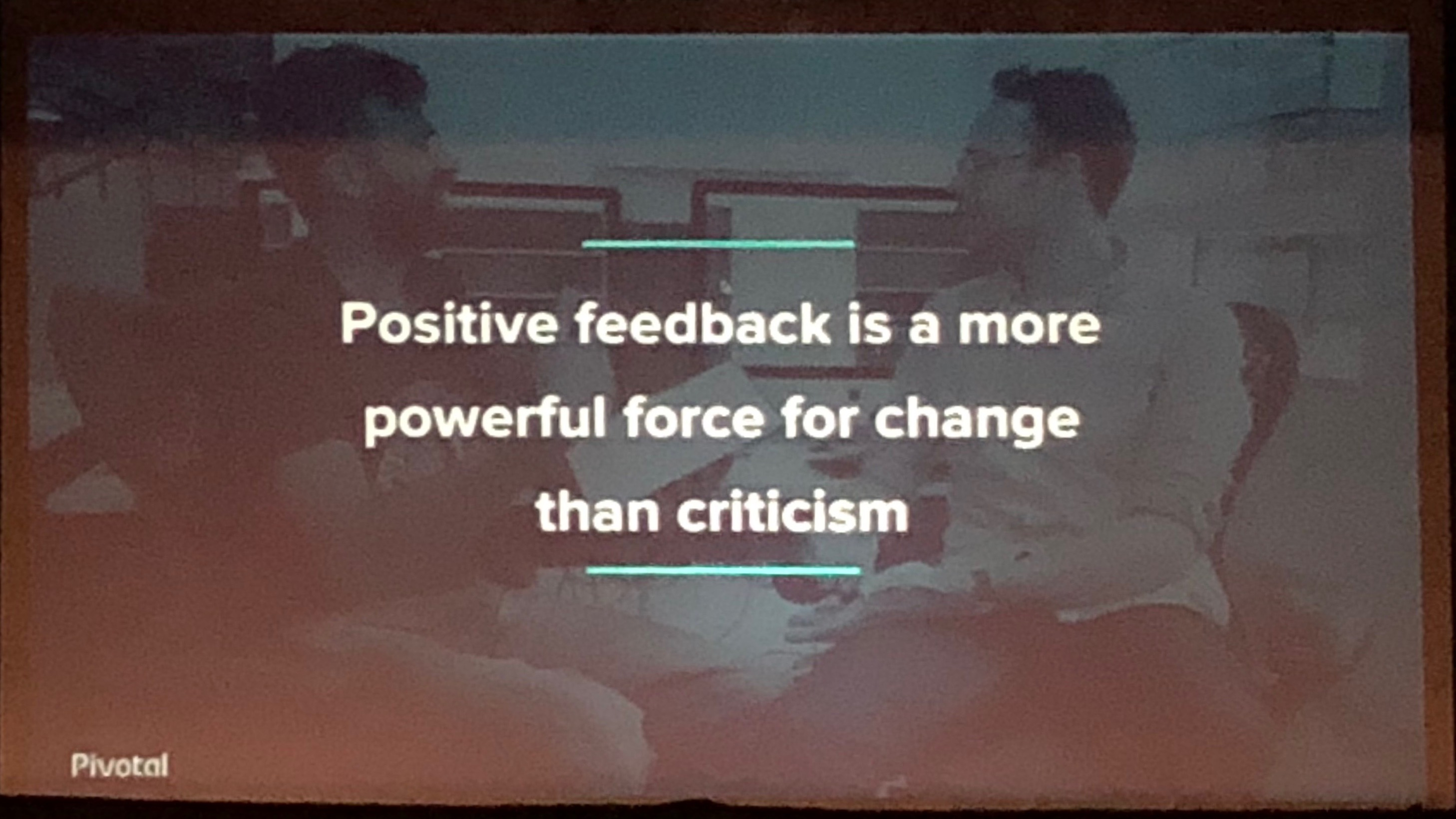 Hendrickson: Positive feedback is a more powerful force for change than criticism