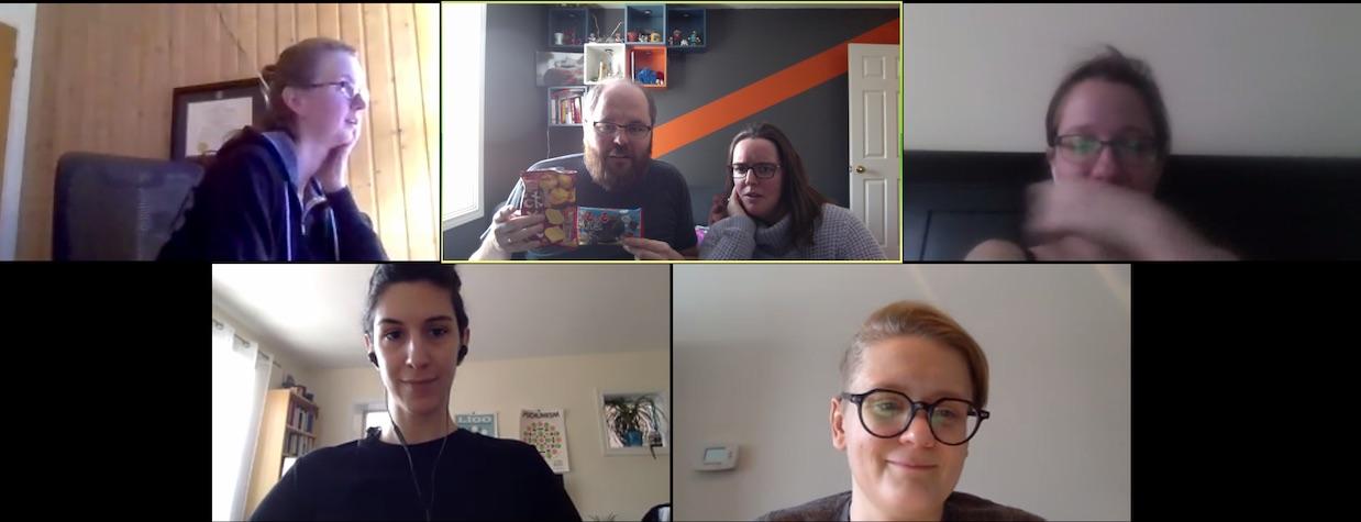 WonderProxy team on a video call
